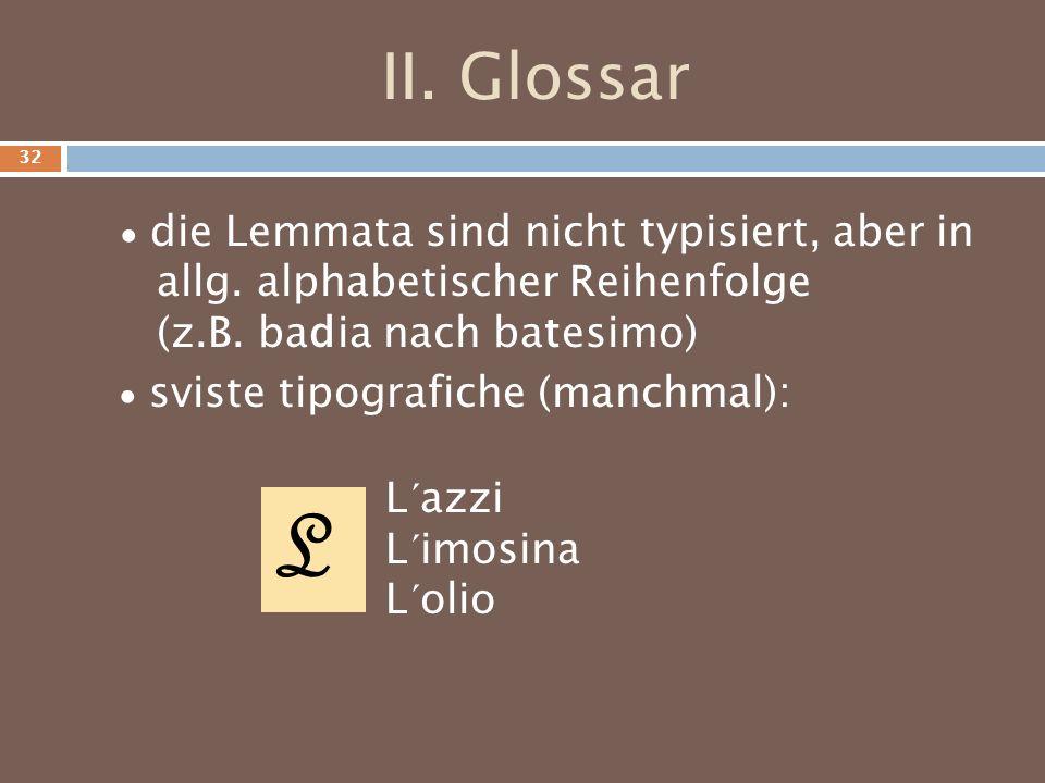 II. Glossar