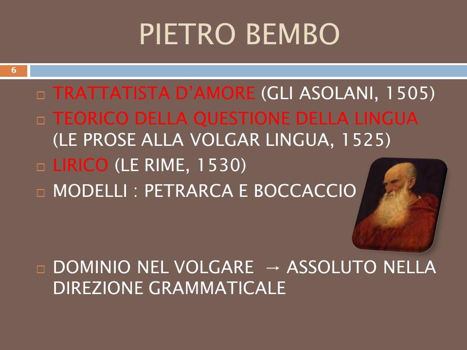 PIETRO BEMBO TRATTATISTA D'AMORE (GLI ASOLANI, 1505)