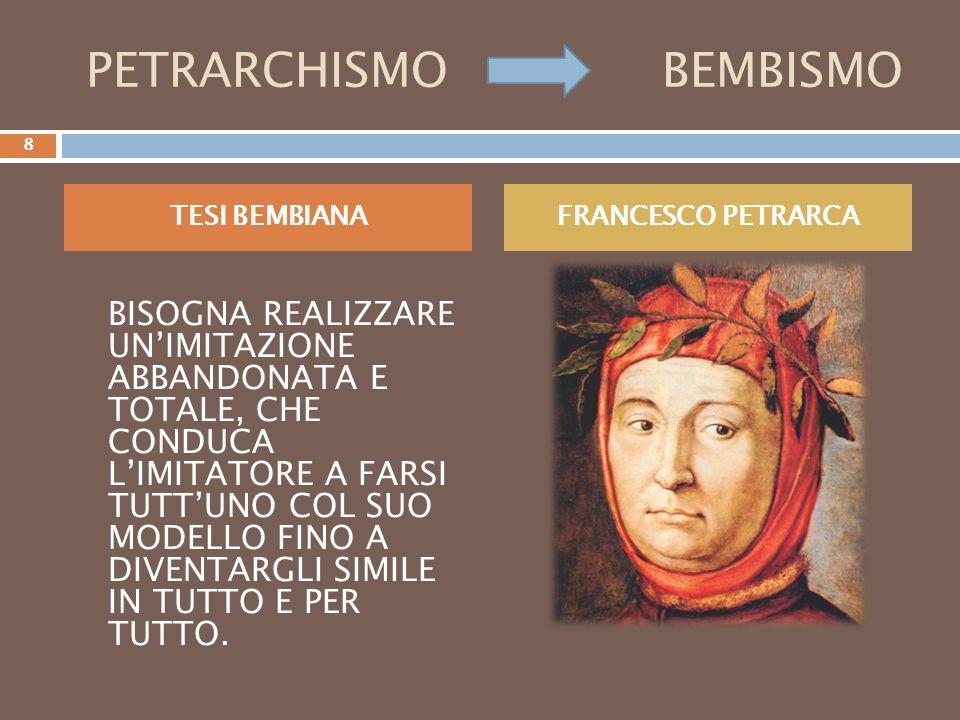 PETRARCHISMO BEMBISMO