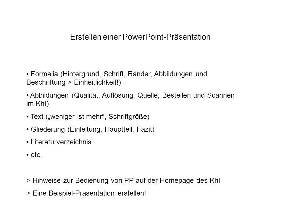 Erstellen einer PowerPoint-Präsentation