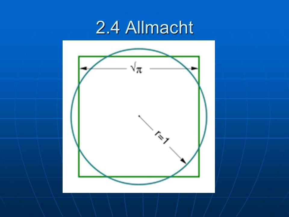 2.4 Allmacht