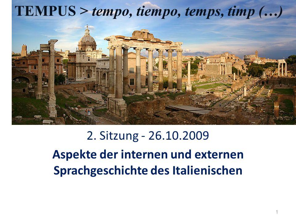 Externe und interne Geschichte der romanischen Sprachen