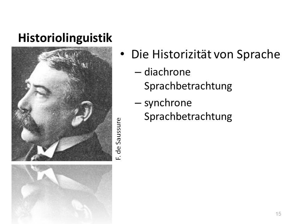 Die Historizität von Sprache