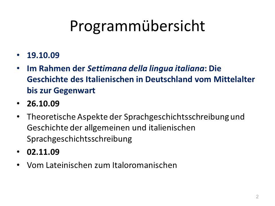 Programmübersicht 19.10.09.
