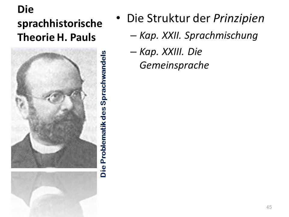 Die sprachhistorische Theorie H. Pauls