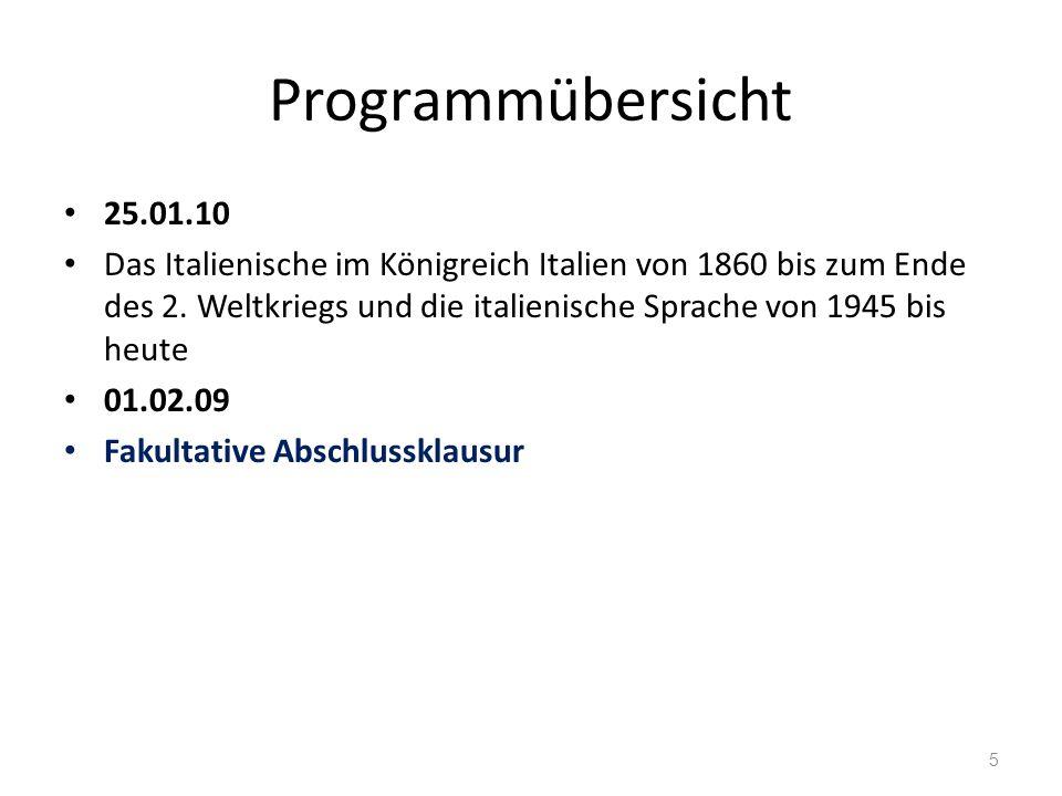 Programmübersicht 25.01.10.