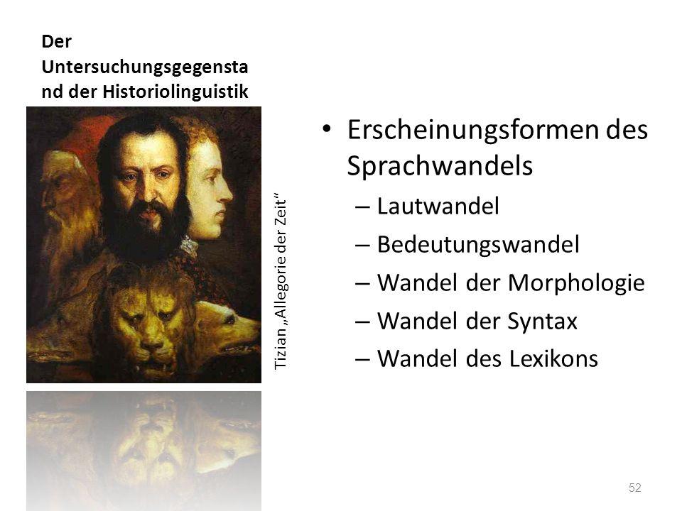 Der Untersuchungsgegenstand der Historiolinguistik