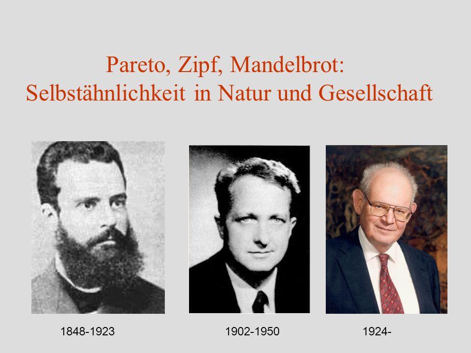 Pareto, Zipf, Mandelbrot: Selbstähnlichkeit in Natur und Gesellschaft