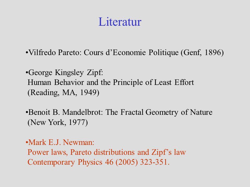 Literatur Vilfredo Pareto: Cours d'Economie Politique (Genf, 1896)