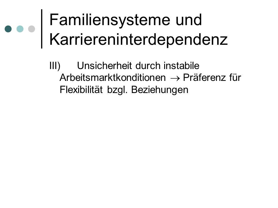 Familiensysteme und Karriereninterdependenz