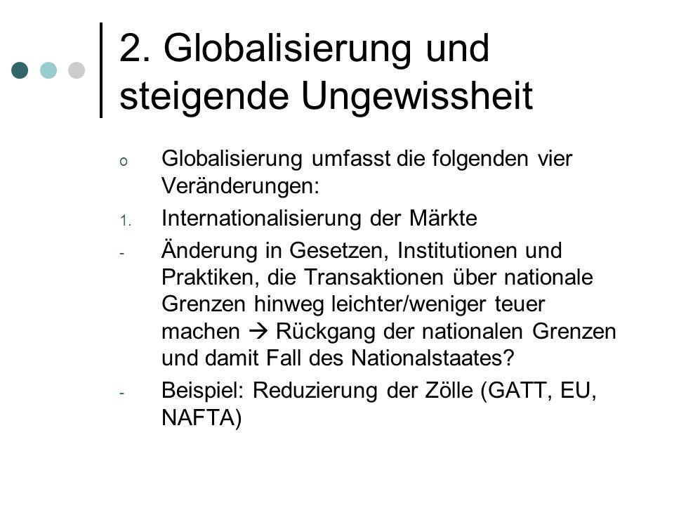 2. Globalisierung und steigende Ungewissheit