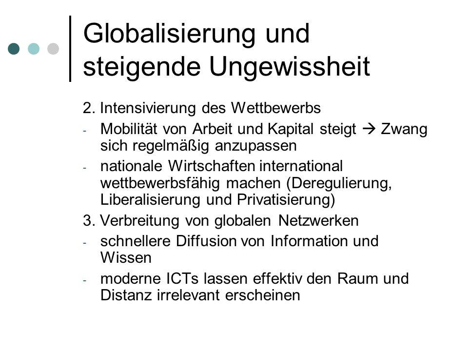 Globalisierung und steigende Ungewissheit