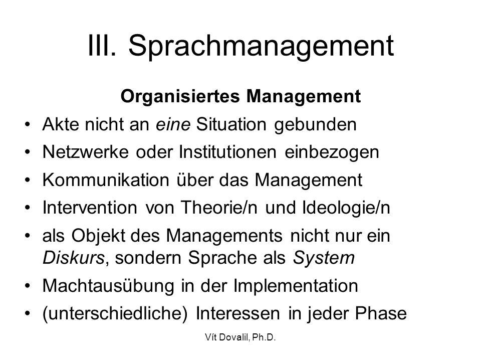 Organisiertes Management