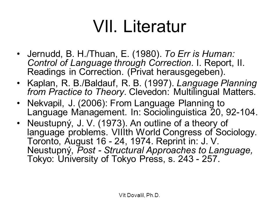 VII. Literatur