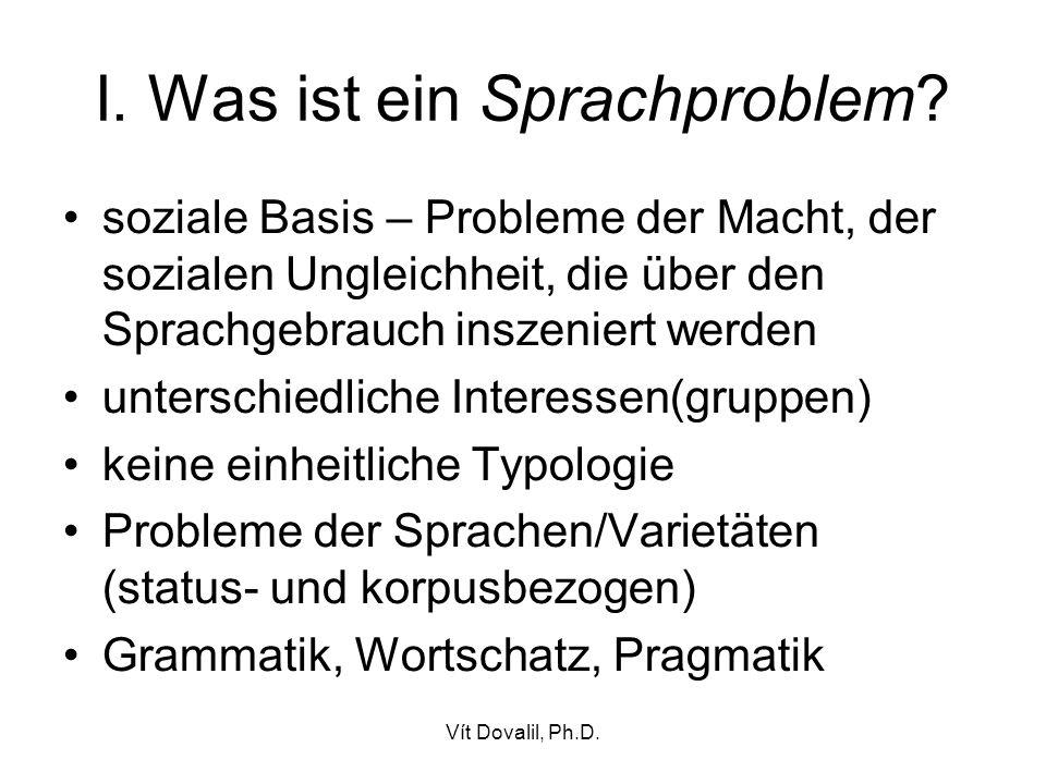 I. Was ist ein Sprachproblem