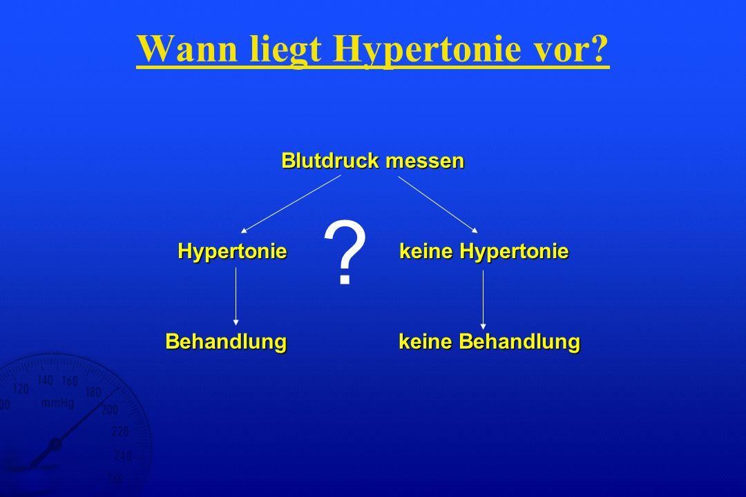 Wann liegt Hypertonie vor