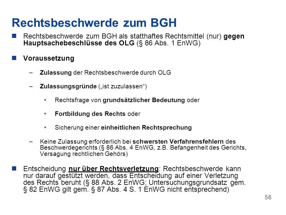 Rechtsbeschwerde zum BGH