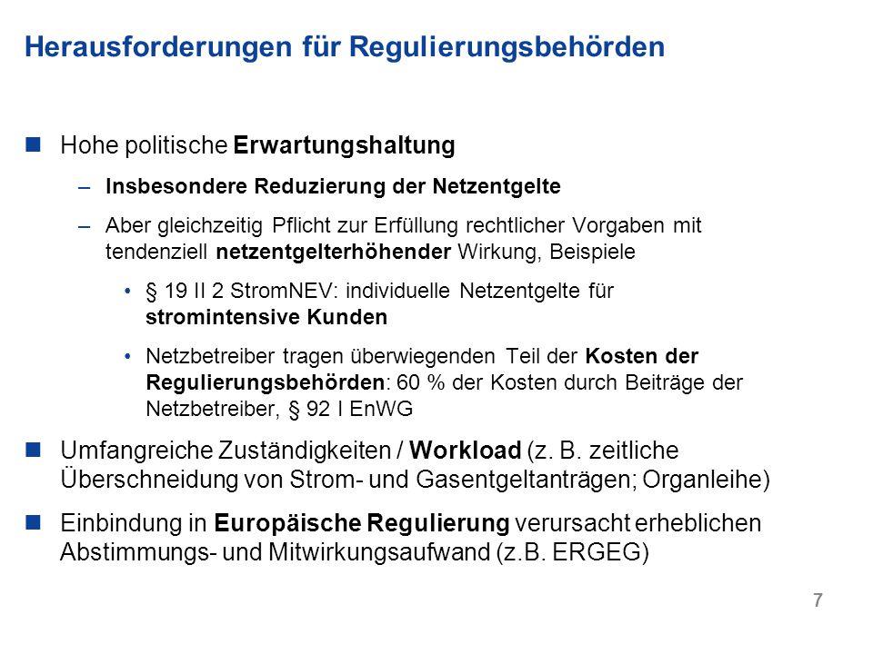 Herausforderungen für Regulierungsbehörden