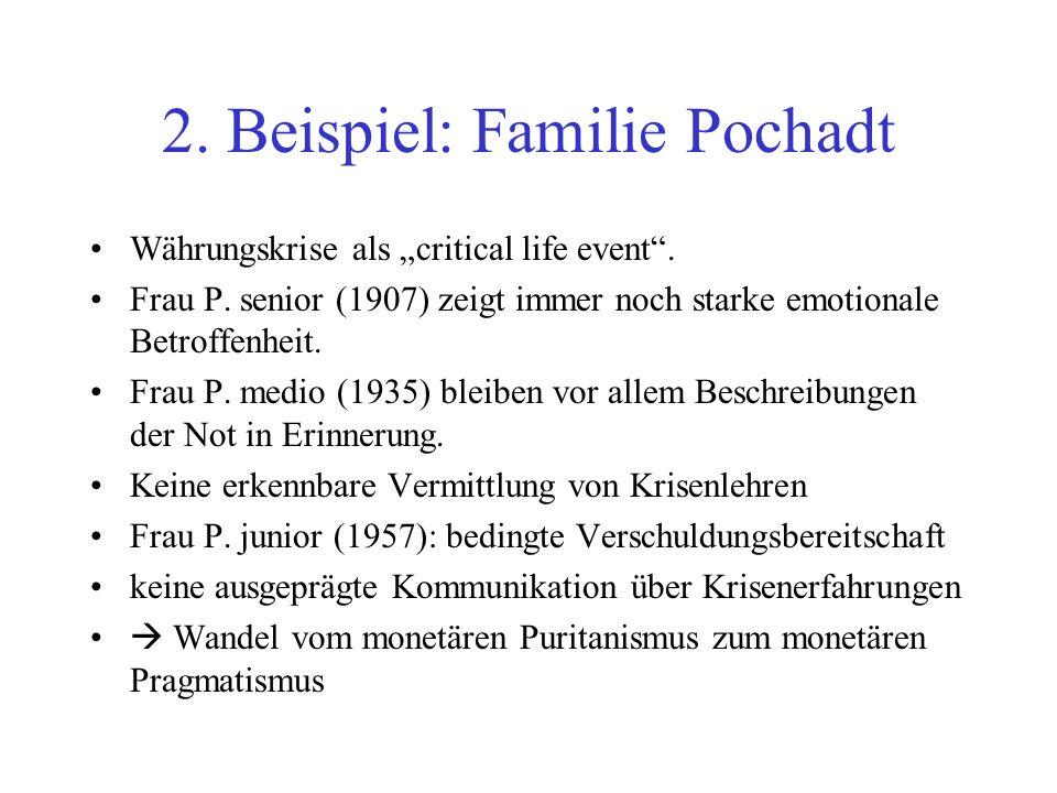 2. Beispiel: Familie Pochadt