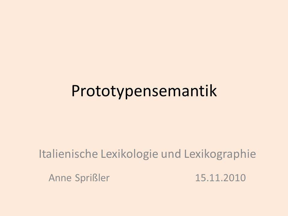 Italienische Lexikologie und Lexikographie Anne Sprißler 15.11.2010