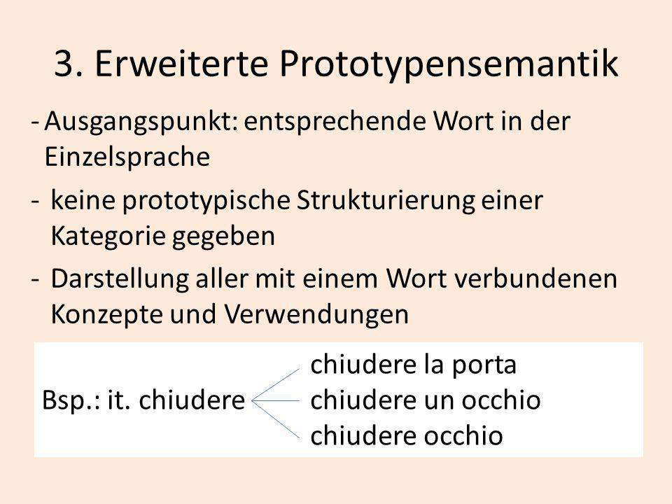 3. Erweiterte Prototypensemantik