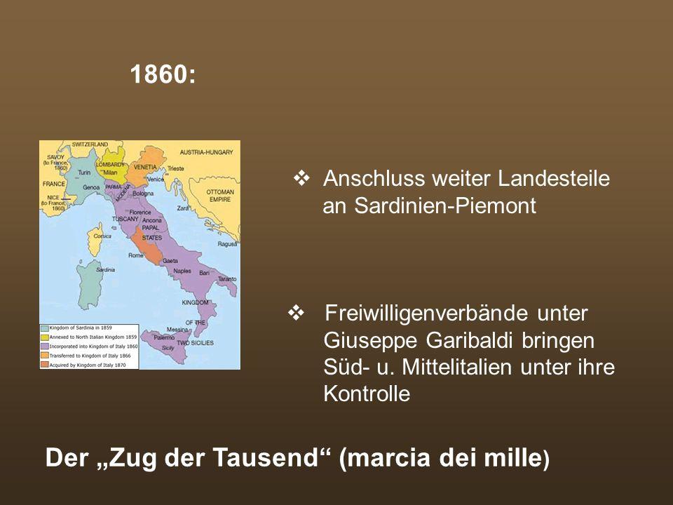 """Der """"Zug der Tausend (marcia dei mille)"""