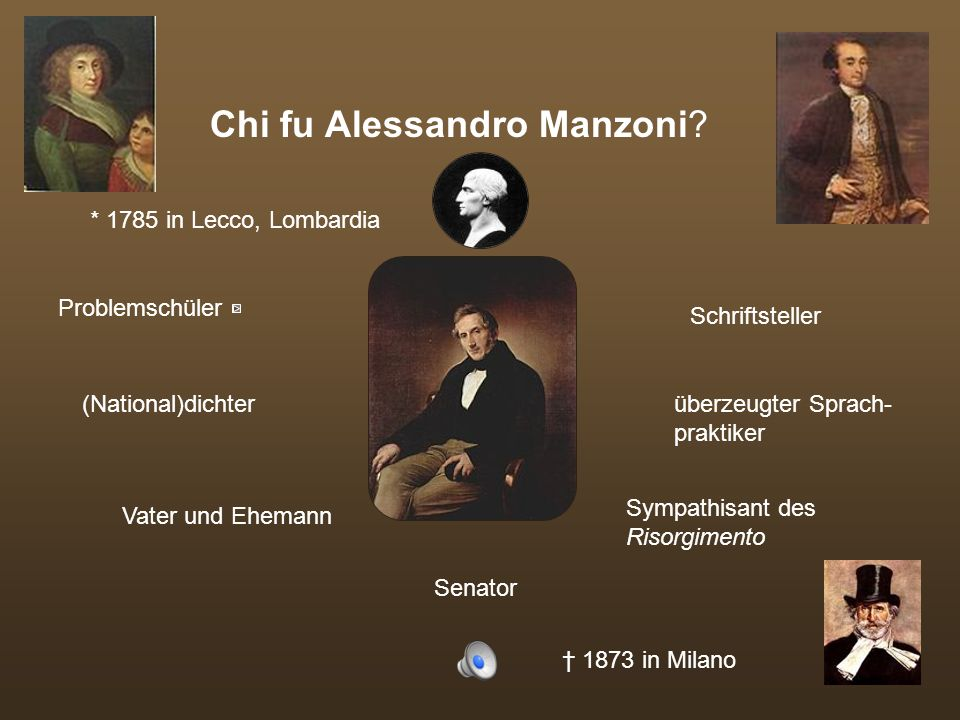 Chi fu Alessandro Manzoni