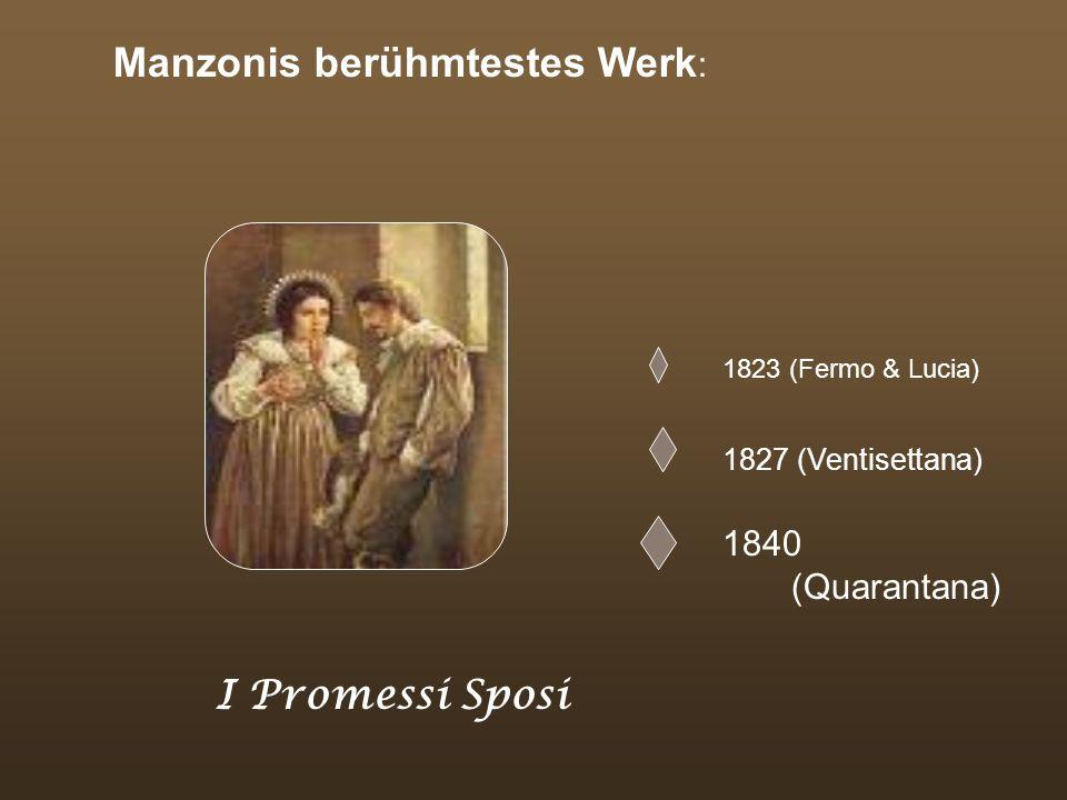 Manzonis berühmtestes Werk: