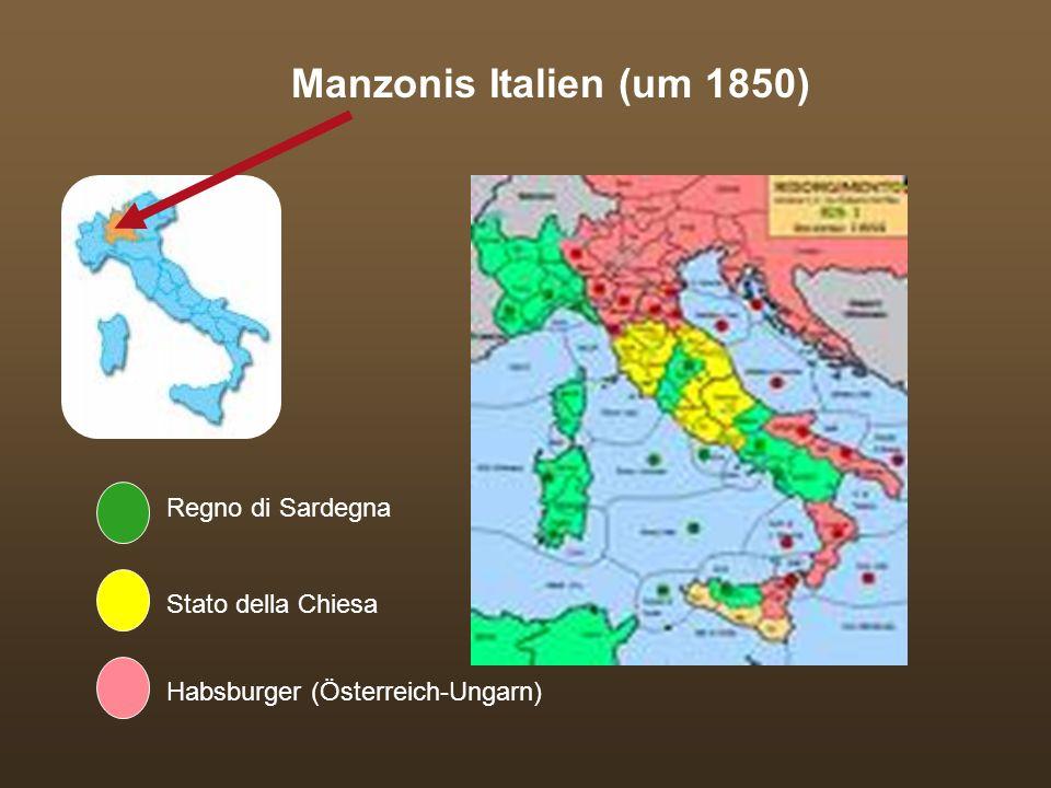 Manzonis Italien (um 1850) Regno di Sardegna Stato della Chiesa