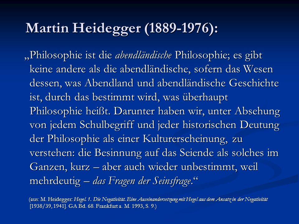 Martin Heidegger (1889-1976):
