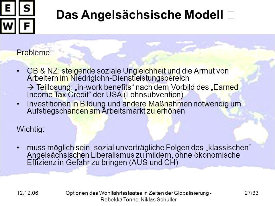 Das Angelsächsische Modell Ⅱ