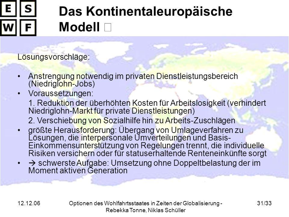Das Kontinentaleuropäische Modell Ⅲ