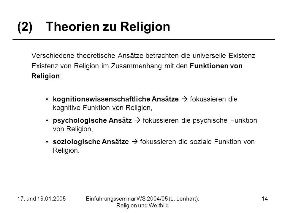(2) Theorien zu Religion