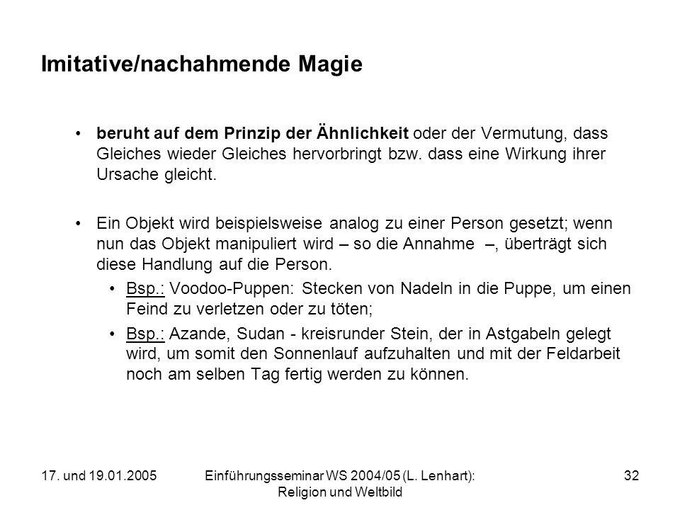 Imitative/nachahmende Magie