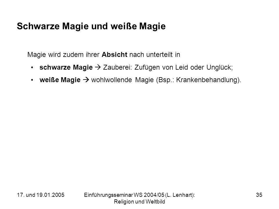 Schwarze Magie und weiße Magie