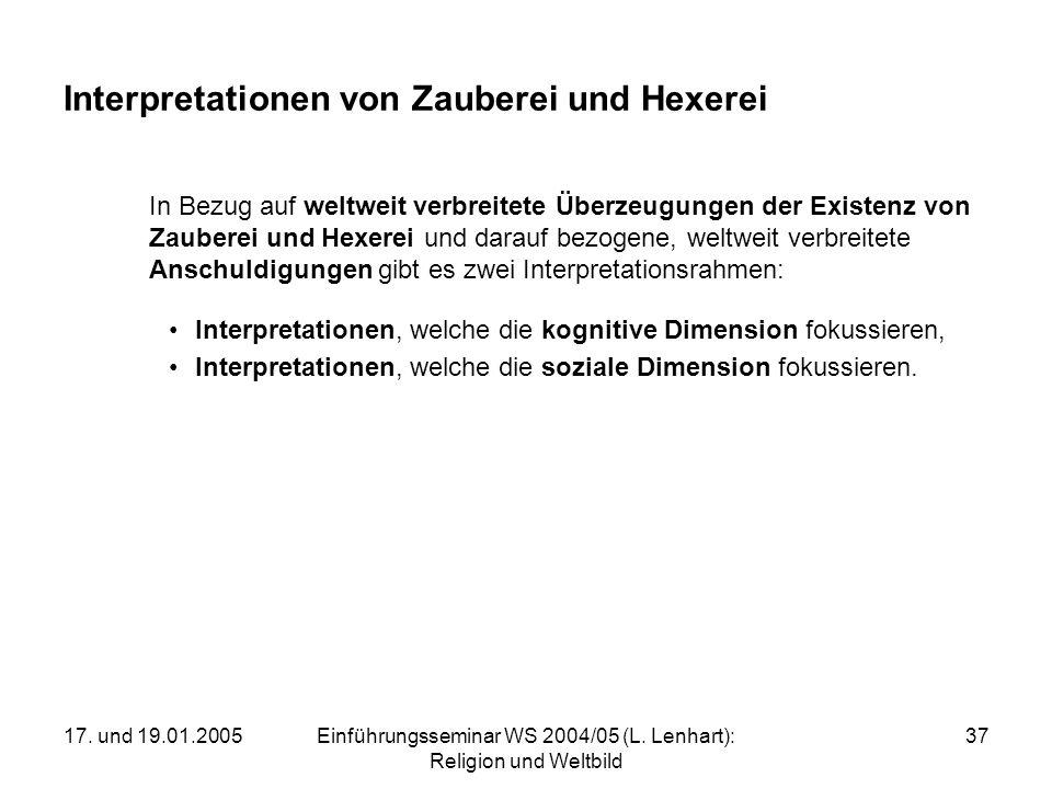 Interpretationen von Zauberei und Hexerei