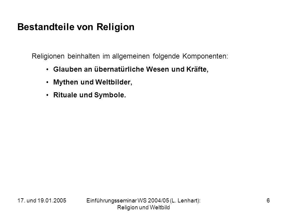 Bestandteile von Religion