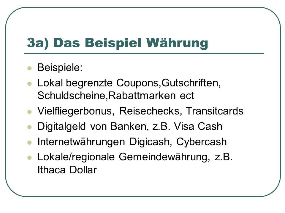 3a) Das Beispiel Währung