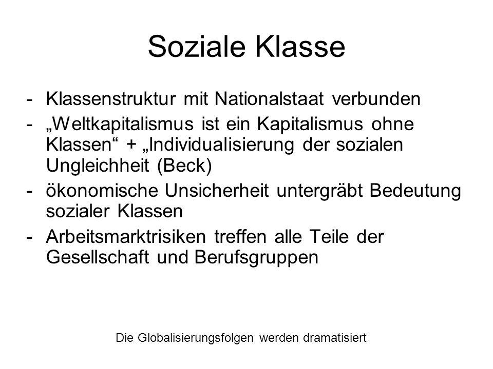 Soziale Klasse Klassenstruktur mit Nationalstaat verbunden