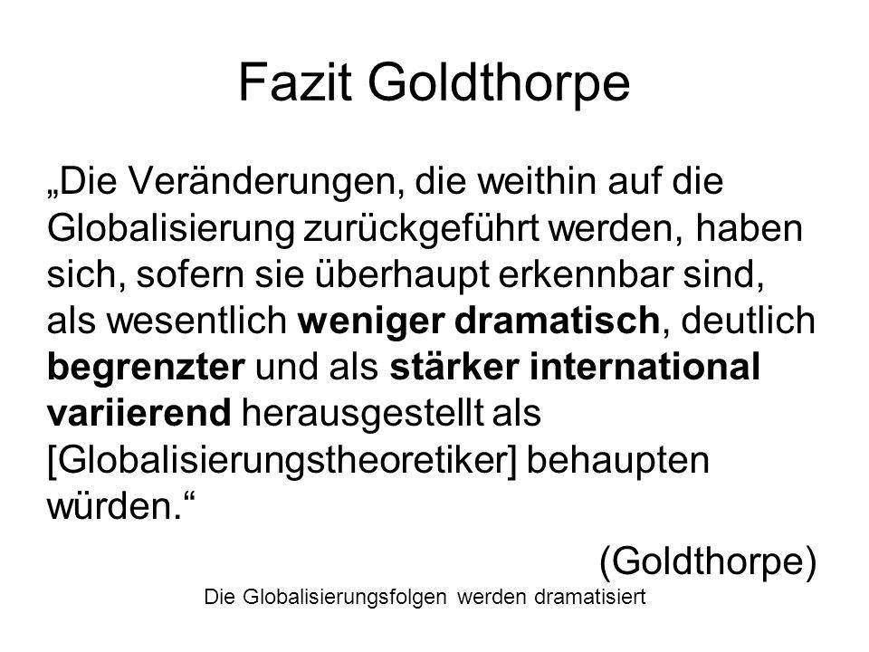 Fazit Goldthorpe