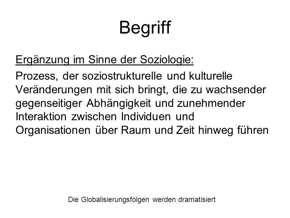Begriff Ergänzung im Sinne der Soziologie: