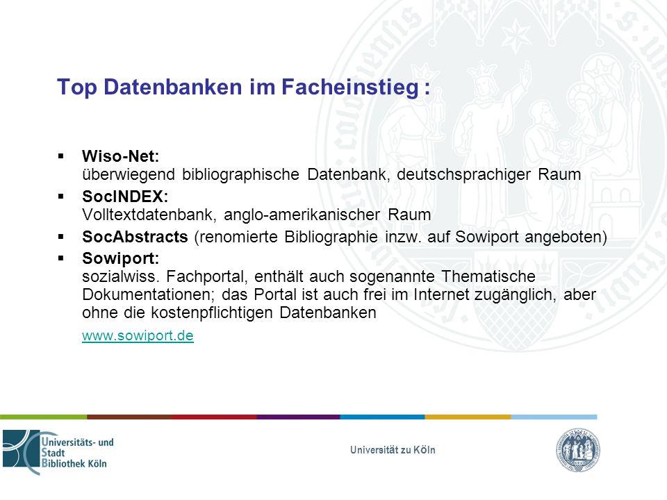 Top Datenbanken im Facheinstieg :