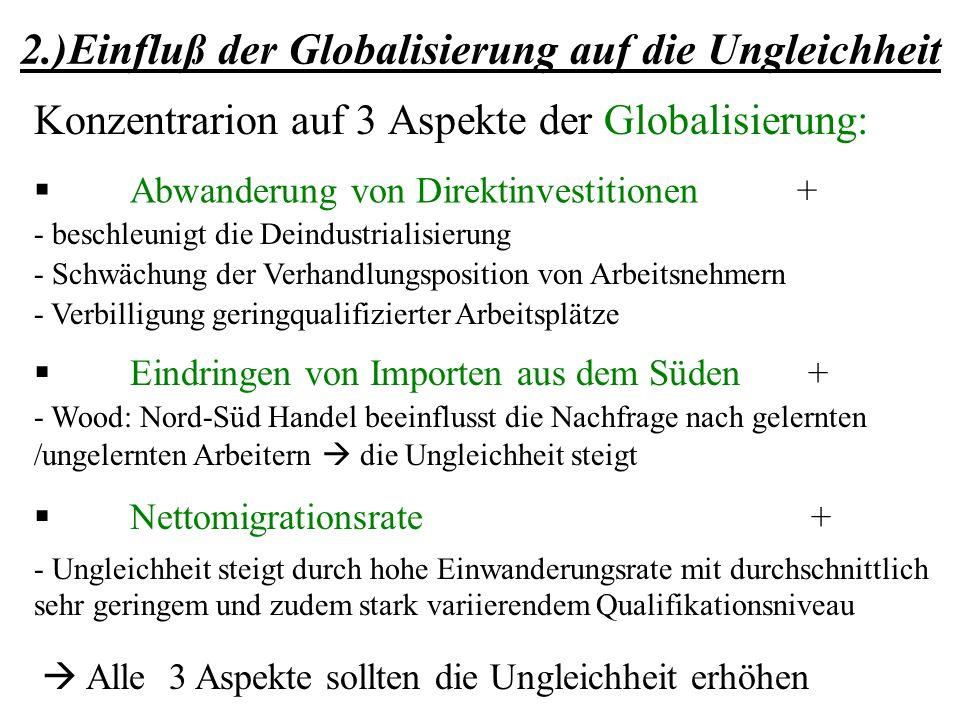2.)Einfluß der Globalisierung auf die Ungleichheit