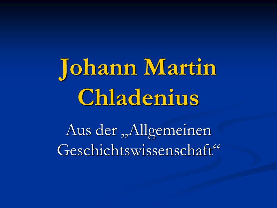 Johann Martin Chladenius