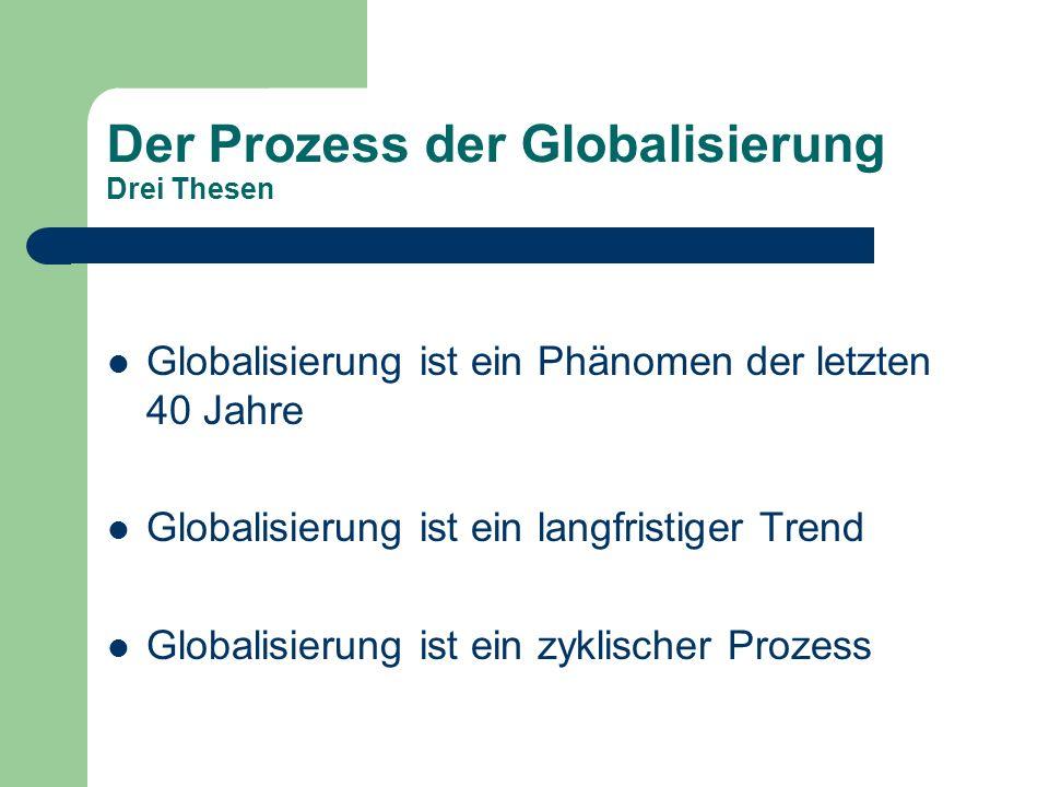 Der Prozess der Globalisierung Drei Thesen