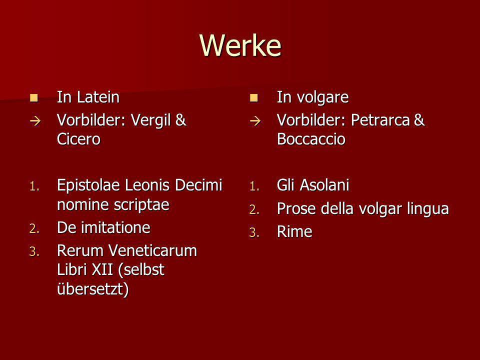 Werke In Latein Vorbilder: Vergil & Cicero