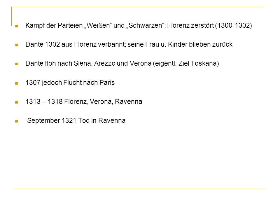 """Kampf der Parteien """"Weißen und """"Schwarzen : Florenz zerstört (1300-1302)"""