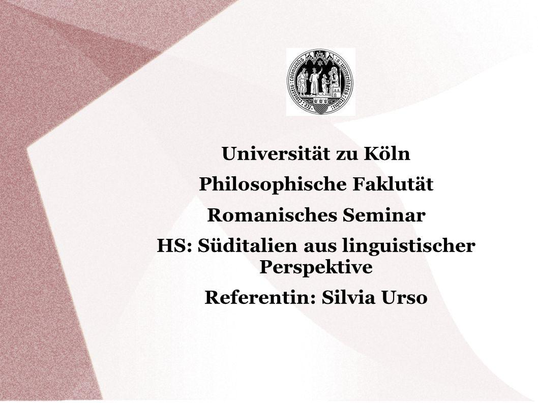 Philosophische Faklutät Romanisches Seminar