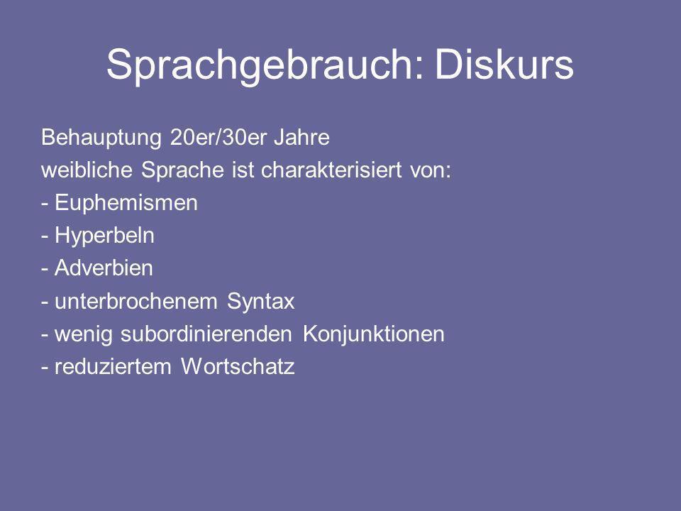 Sprachgebrauch: Diskurs