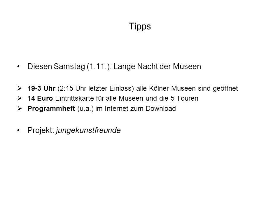 Tipps Diesen Samstag (1.11.): Lange Nacht der Museen